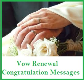 Congratulation Messages Vow Renewal