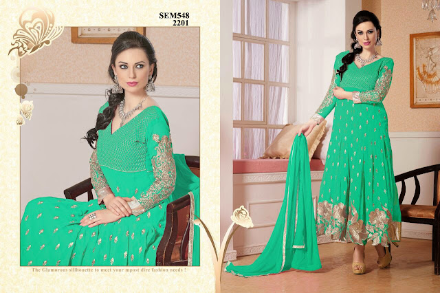 Buy Georgette Butti Work Long Anarkali Suit – Supplier