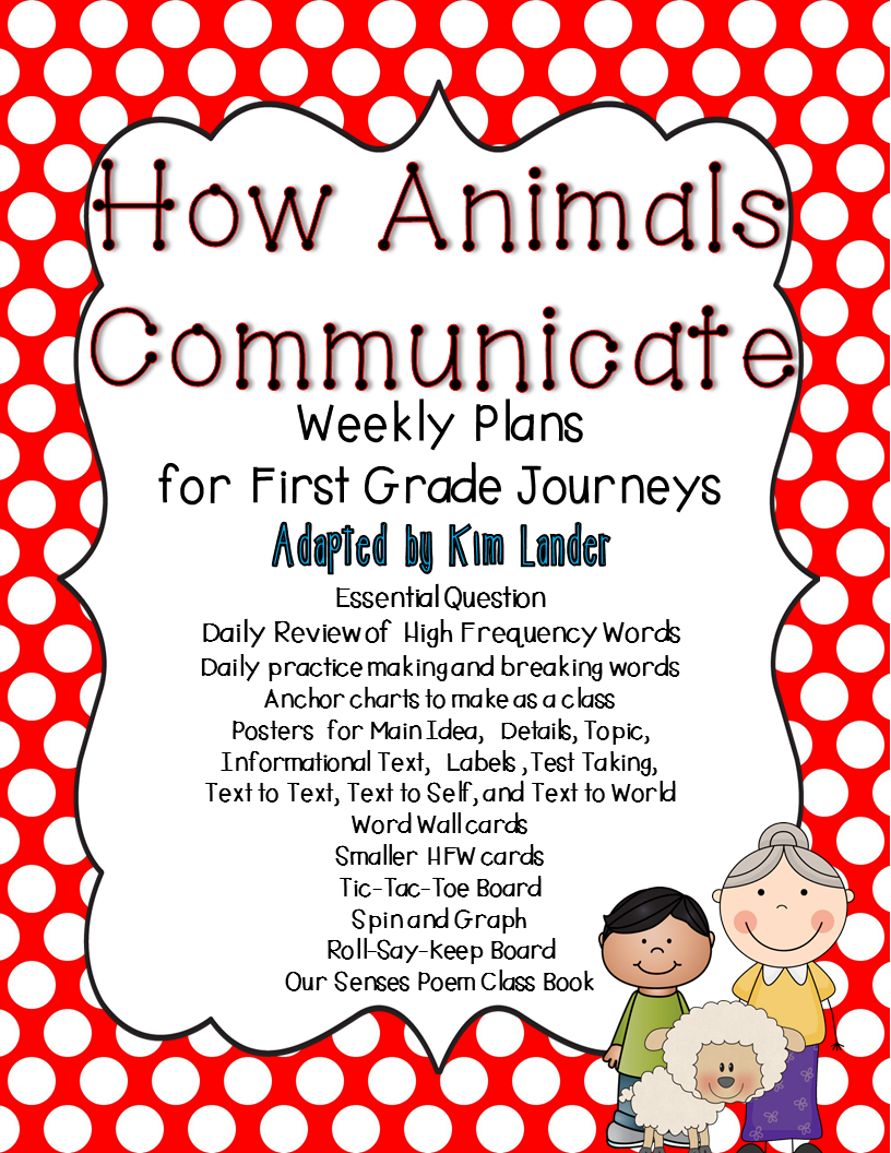http://www.teacherspayteachers.com/Product/How-Animals-Communicate-Journeys-Lesson-Plans-and-Supplemental-Materials-1444694