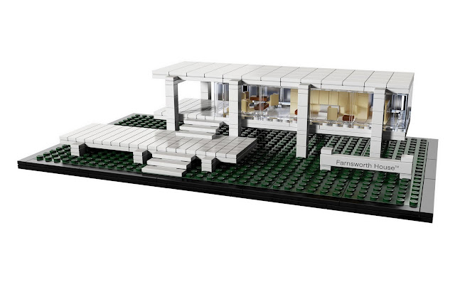 ludwig mies van der rohe farnsworth house in lego modern. Black Bedroom Furniture Sets. Home Design Ideas