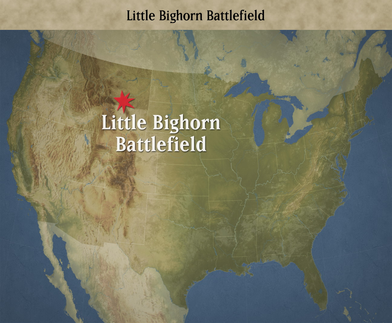 Graphic Firing Table Battles That Changed History Little Bighorn - Little bighorn river location on us map