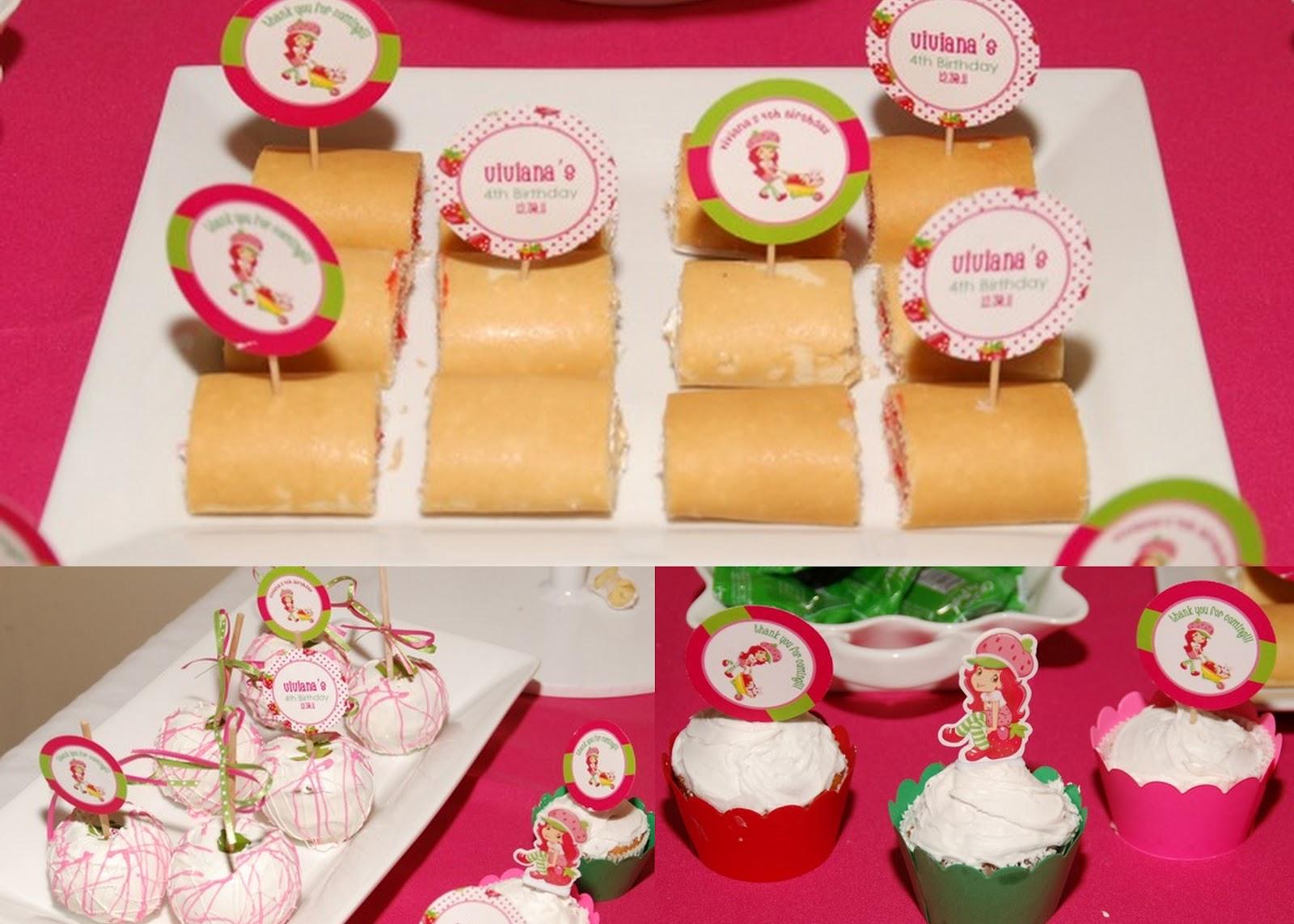 Strawberry Shortcake Baby Shower Supplies Part - 32: Modern Strawberry Shortcake Party Theme. This Was Our Sister (Roxyu0027s)  Niece/god Daughteru0027s Birthday Party!