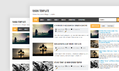 Download Template Blog Dilengkapi Dengan Menu Tab View