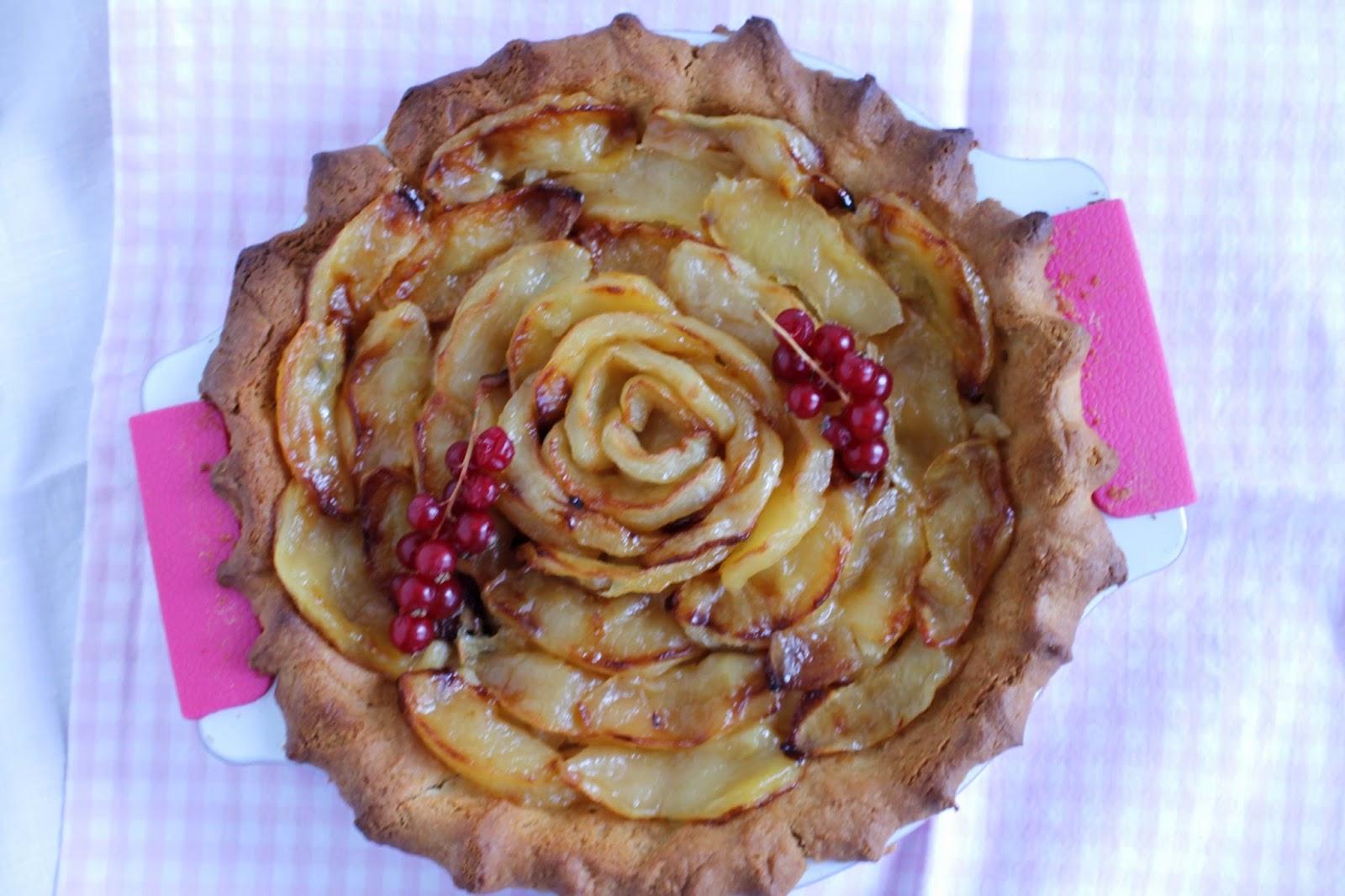 Receta Tarta de manzana caramelizada