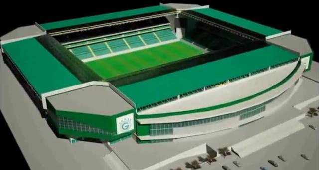 Novo estádio da Serrinha - vista aérea