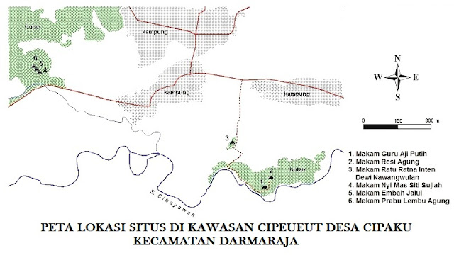Sekilas Lokasi dan Makam Situs Keramat Cipeueut Desa Cipaku Jatigede