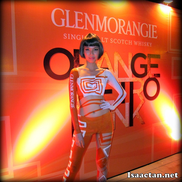 Space Girl at Glenmorangie Orange Retro Funk Night The Pool