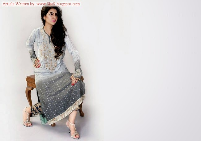 Ayesha Somaya Two Color Contrast Dresses