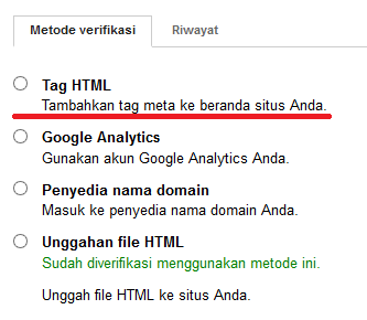 Cara Verifikasi Website/Blog di Google