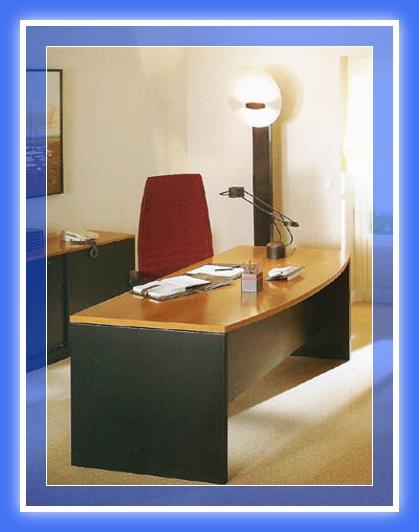 Escritorio pc de melamina madera dise os modernos web for Tableros para escritorios