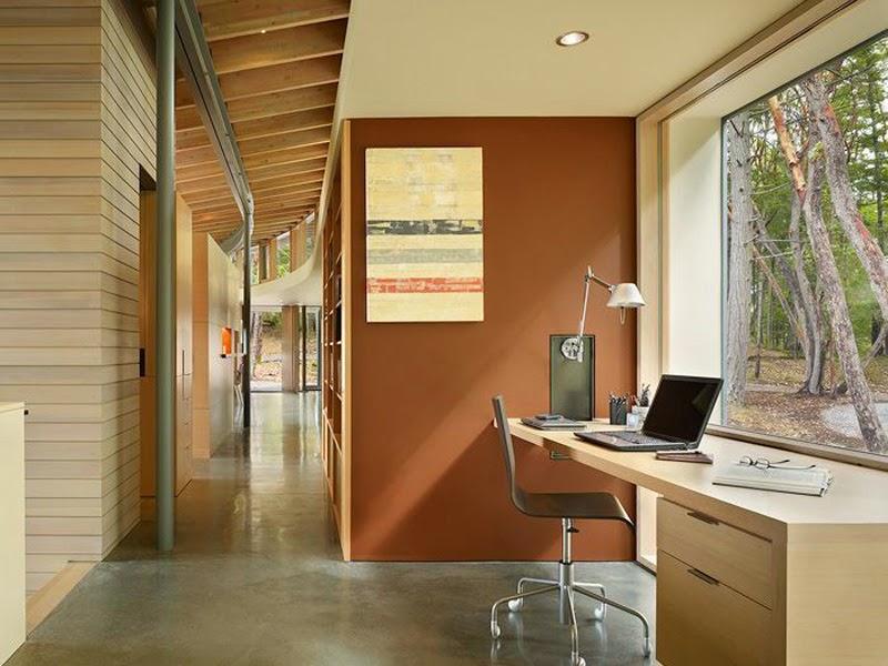 Wooden Modern Office Interior Design