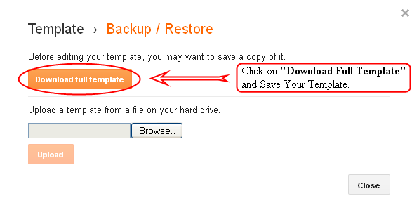 Backup Your Blogger Template