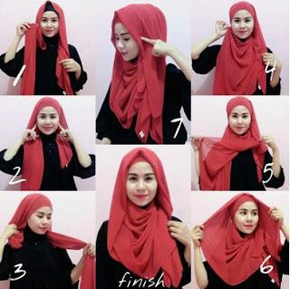 Inilah Tutorial Hijab Pashmina Panjang