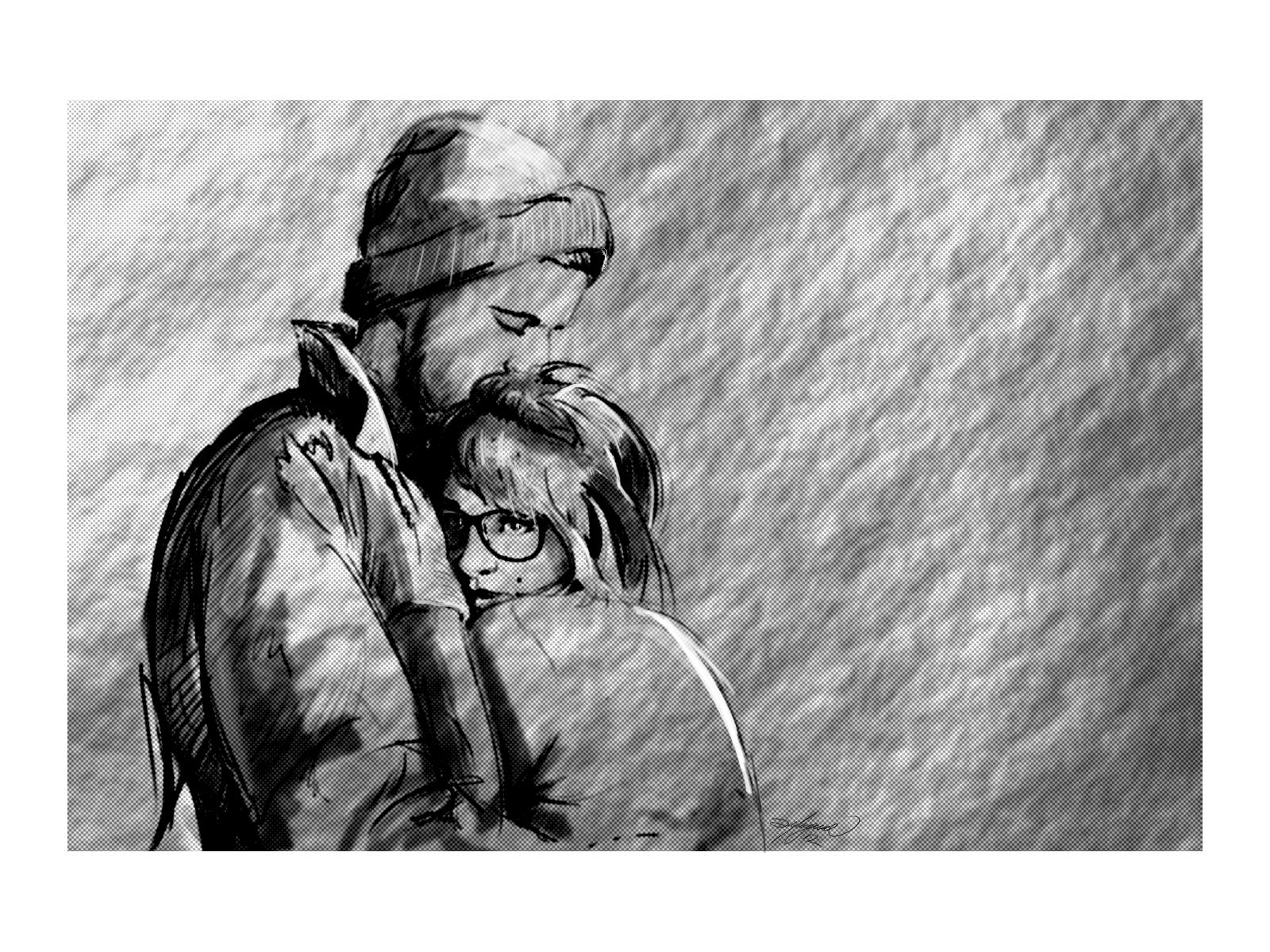 100 sketches 20 hug