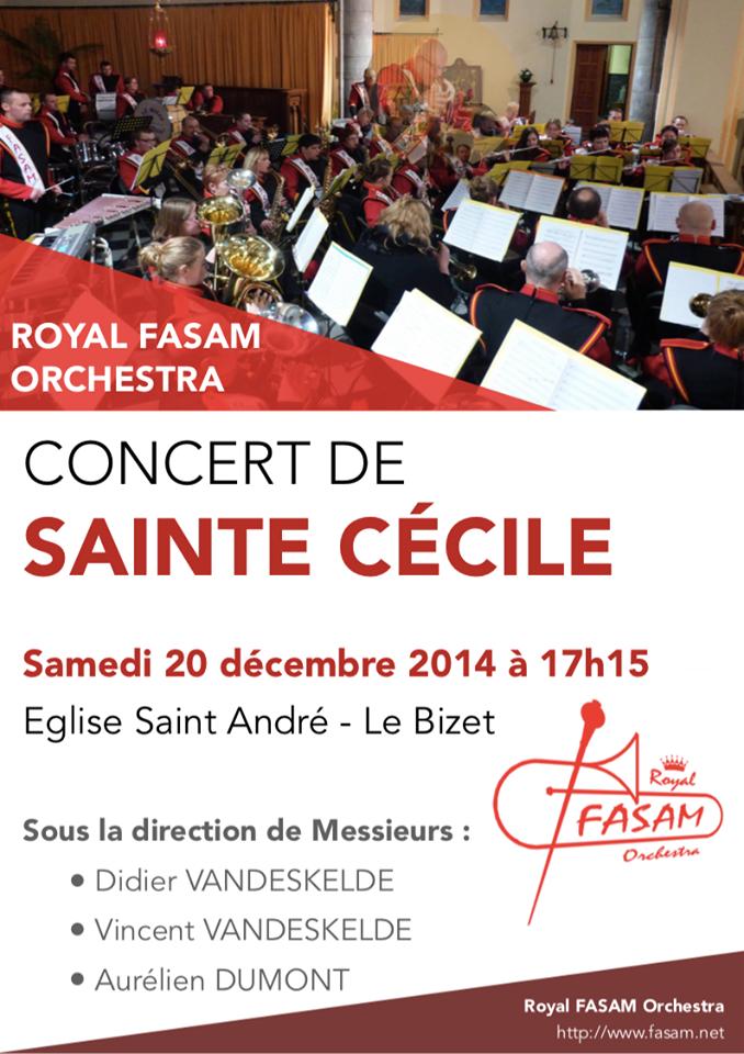 20 décembre Concert Sainte Cécile de la FASAM