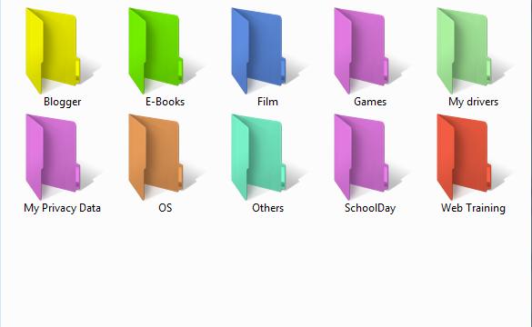 folder lebih berwarna dengan folder colorizer