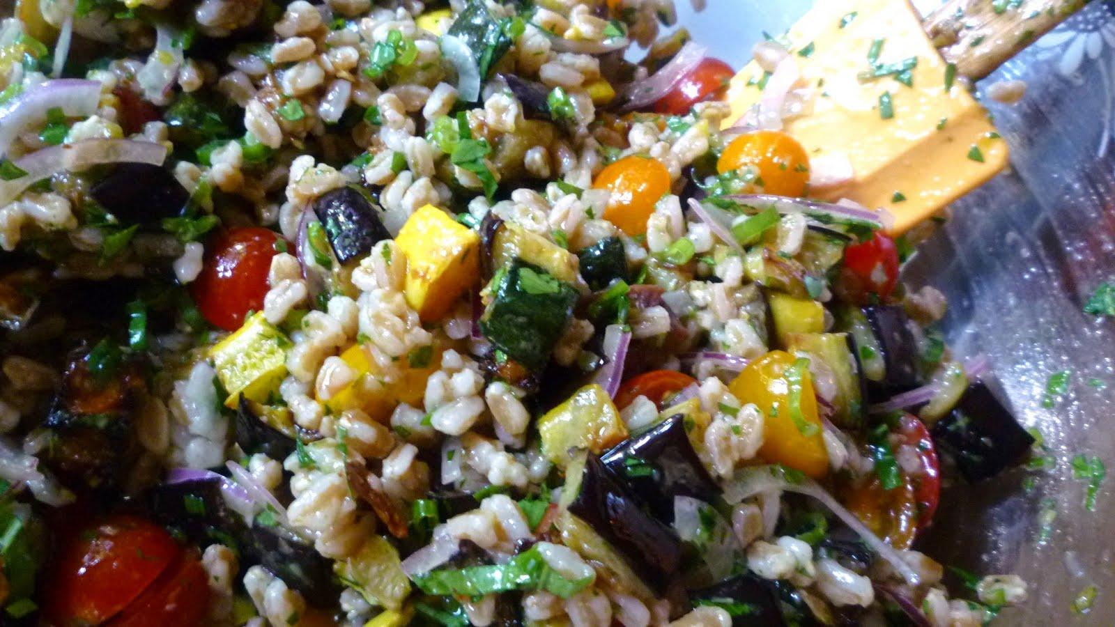 and barley salad recipe yummly mediterranean eggplant and barley salad ...