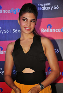 Actress Jacqueline Fernandez Pictures at Samsung Galaxy S6 Smart Phone Launch in Mumbai 11