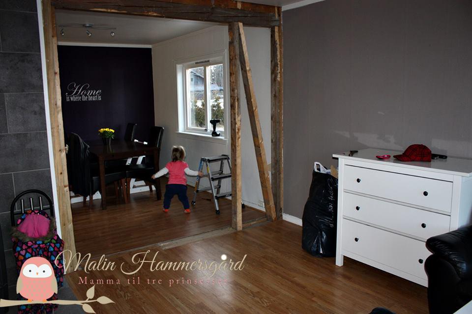 Stuen vår før og etter oppussing » malin   mamma til 3 prinsesser ❤