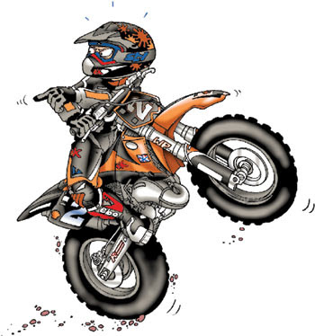 Ktm Wheelie Drawing