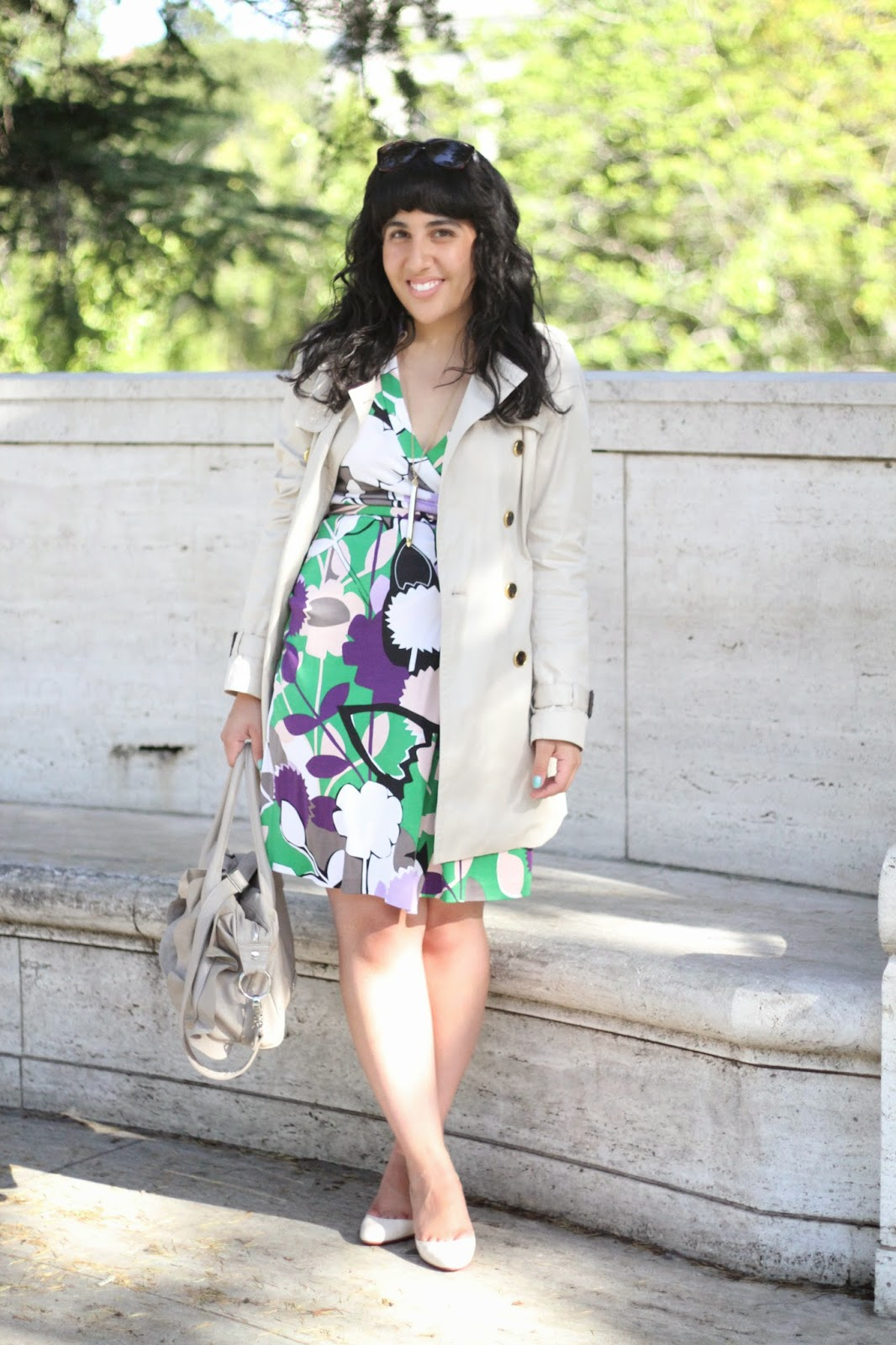 DVF Wrap Dress and Trench Coat