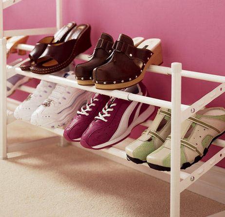 Organizadores caseros para zapatos for Como hacer una zapatera