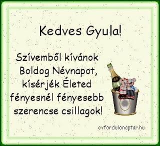 Gyula névnap
