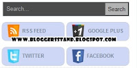 Add Search Box With Social Media Subscription Widget