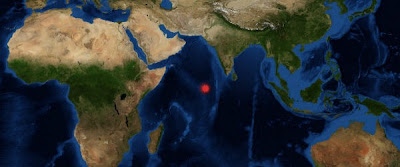 Enjambre de sismos moderados golpeó Carlsberg Ridge, 09 de Enero 2013