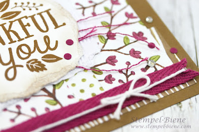 Stampin up Thankful Forest Friends, Stampin up Demonstrator, Stampinup Stempelparty, Stampinup Winterkatalog 2015, Stampinup Rabatte, Stempel-Biene, Scrapbookalben