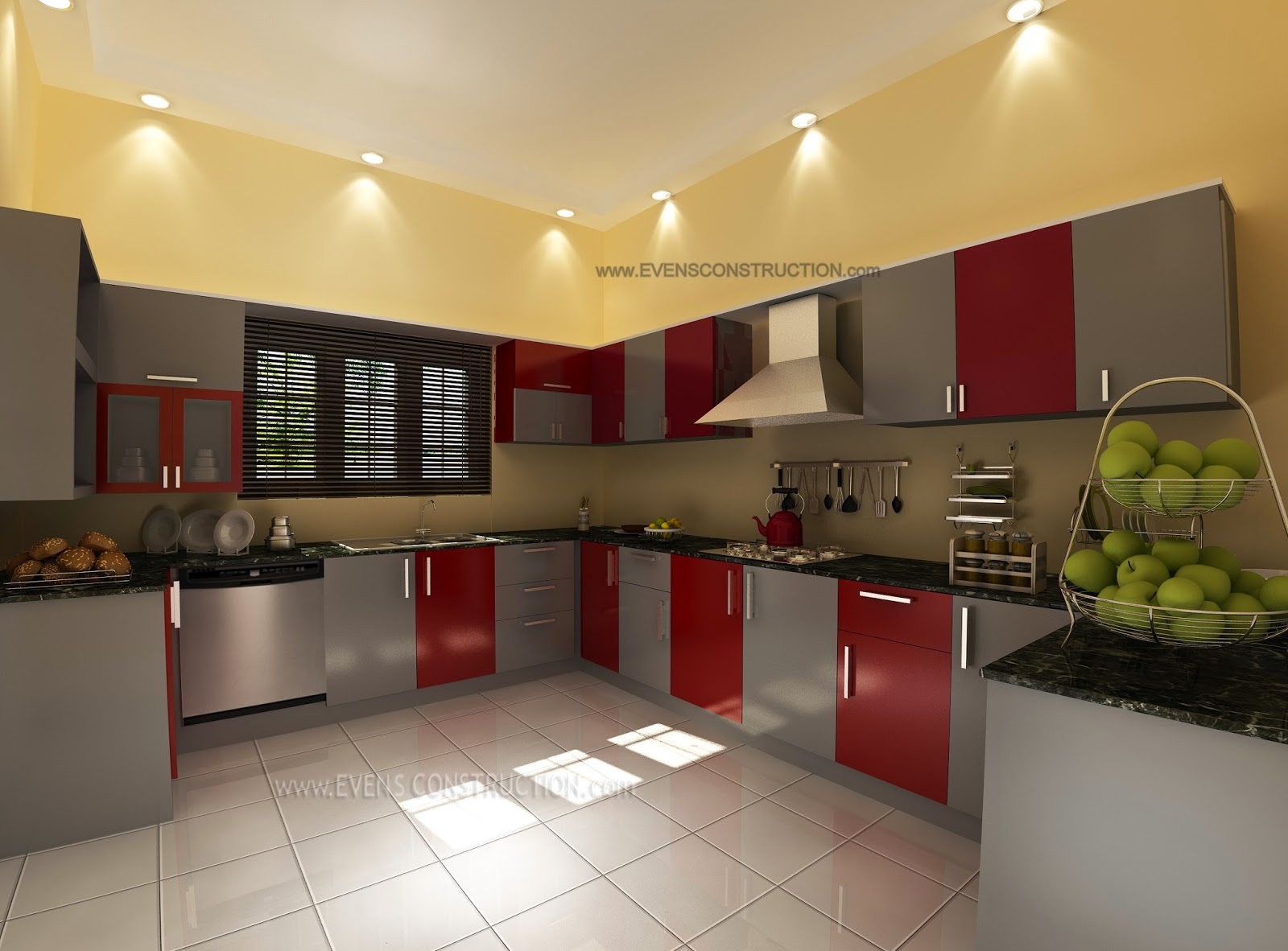 Elegant Charmant Simple And Cute Kerala Kitchen Interior Design
