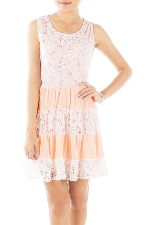 Sugar Sweet Tiered Lace Dress