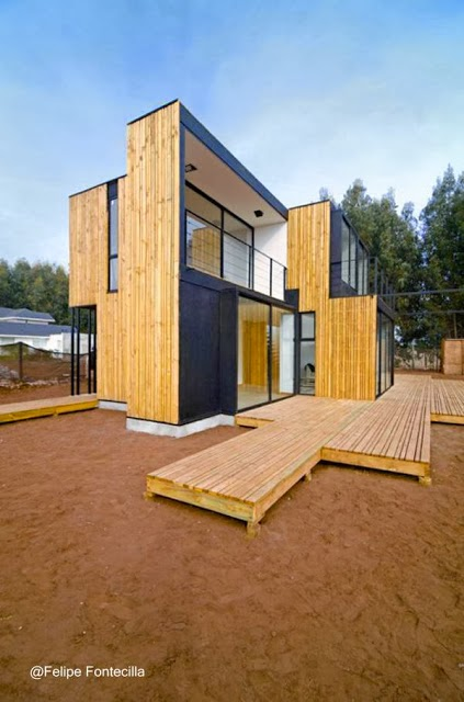 Casa contemporánea de madera en Chile