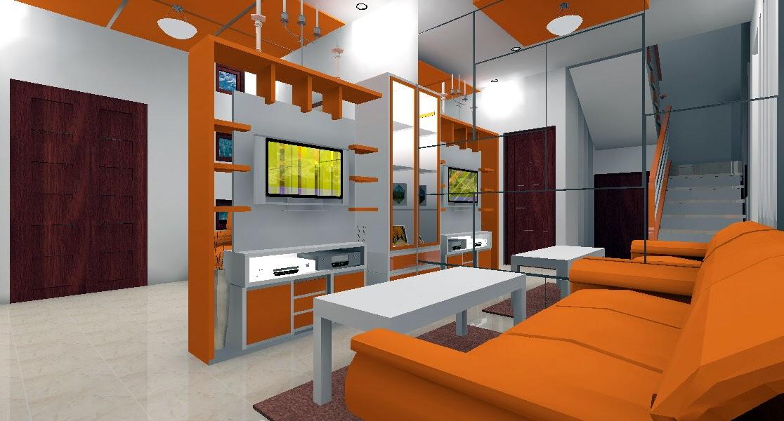 ruang keluarga oranye
