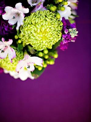Eggplant And Chartreuse Wedding Wednesday