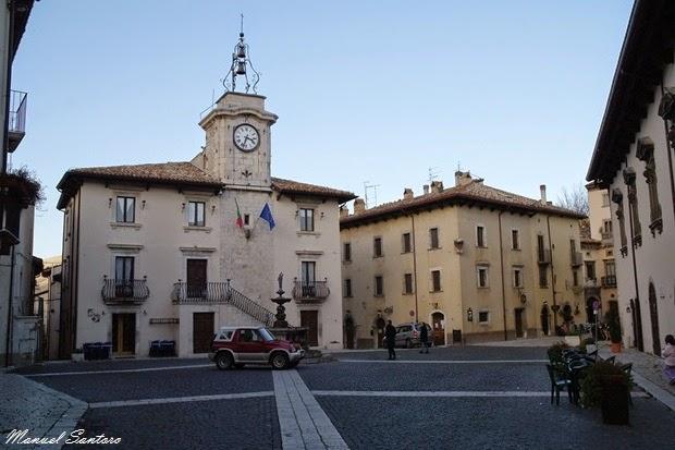 Pescocostanzo, piazza Umberto