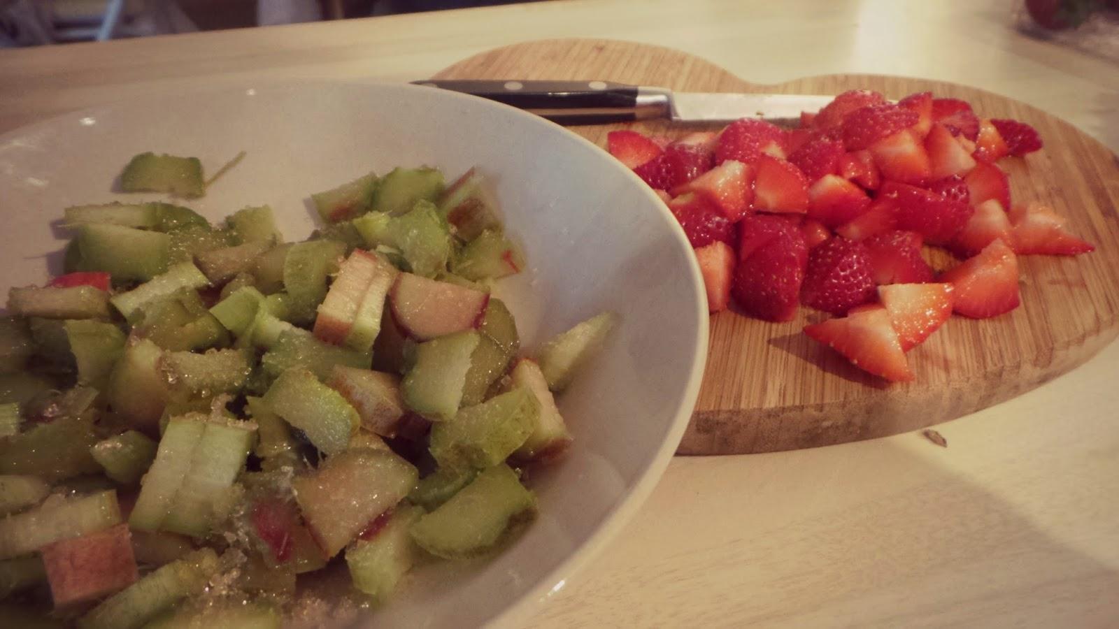 sugared rhubarb