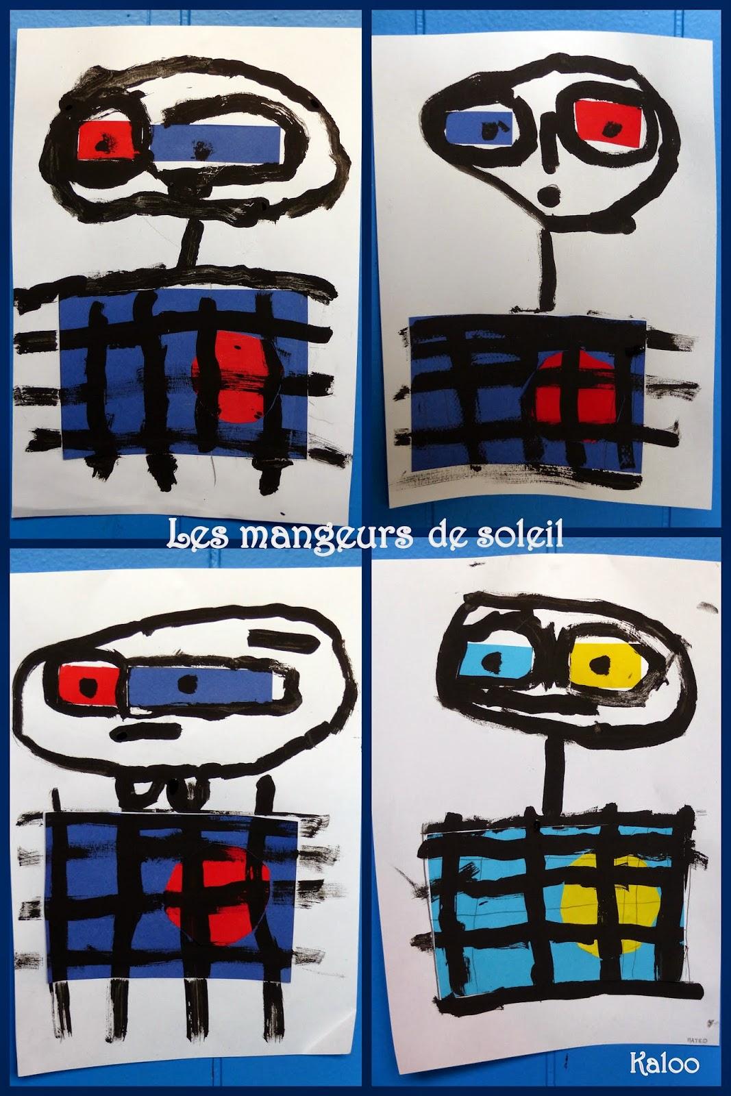 Joan Miro - La mangeur de soleil en MS
