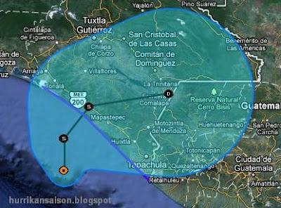 Tropisches Tief 12-E (potenziell Tropensturm KENNETH) im Pazifik - Sturmwarnung in Chiapas, Kenneth, Chiapas, Mexiko, Pazifik, Sturmwarnung, aktuell, Oktober, 2011, Hurrikansaison 2011,