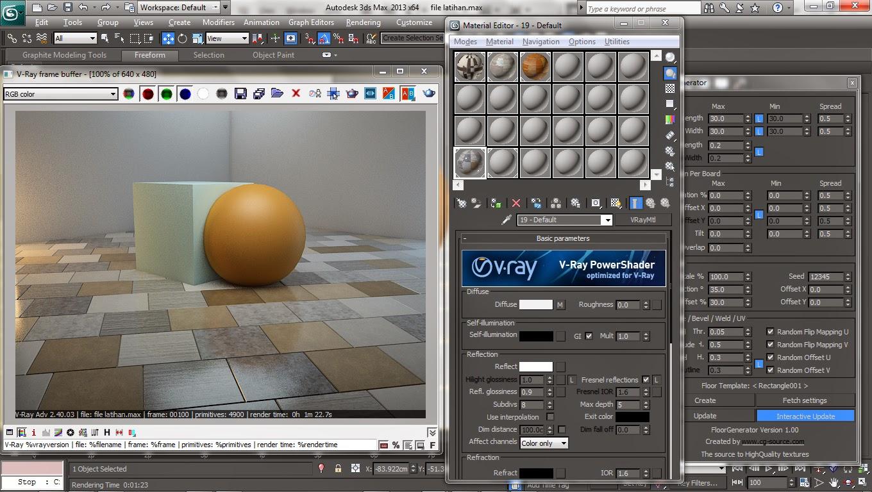 vray, max, sketchup, modeling, plugin, render, texture, floor generator