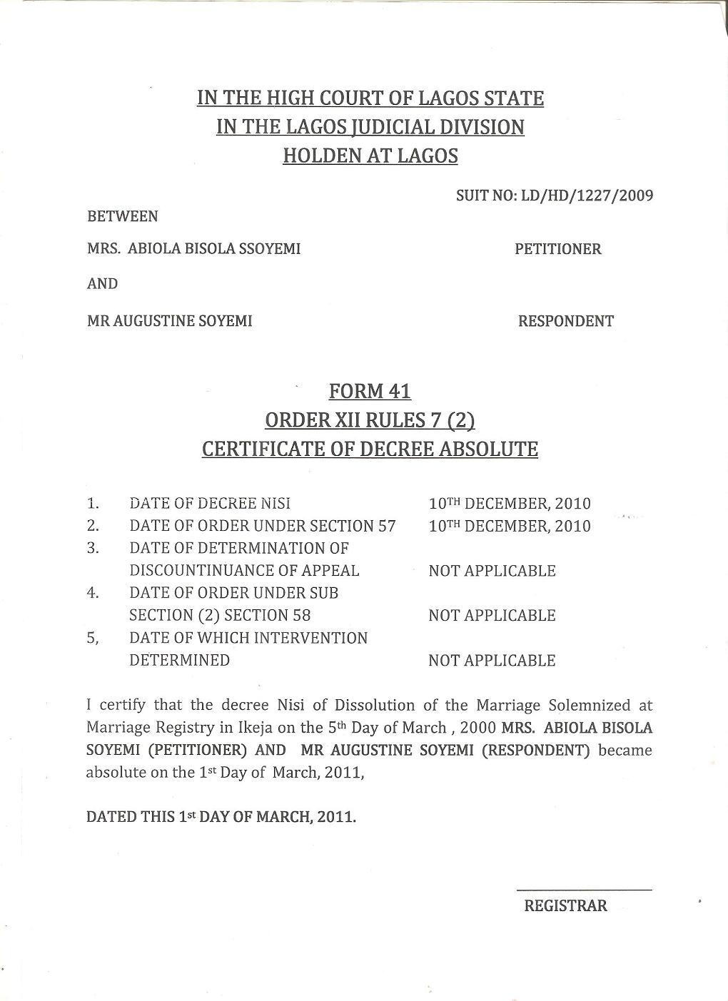 Lagos High Court