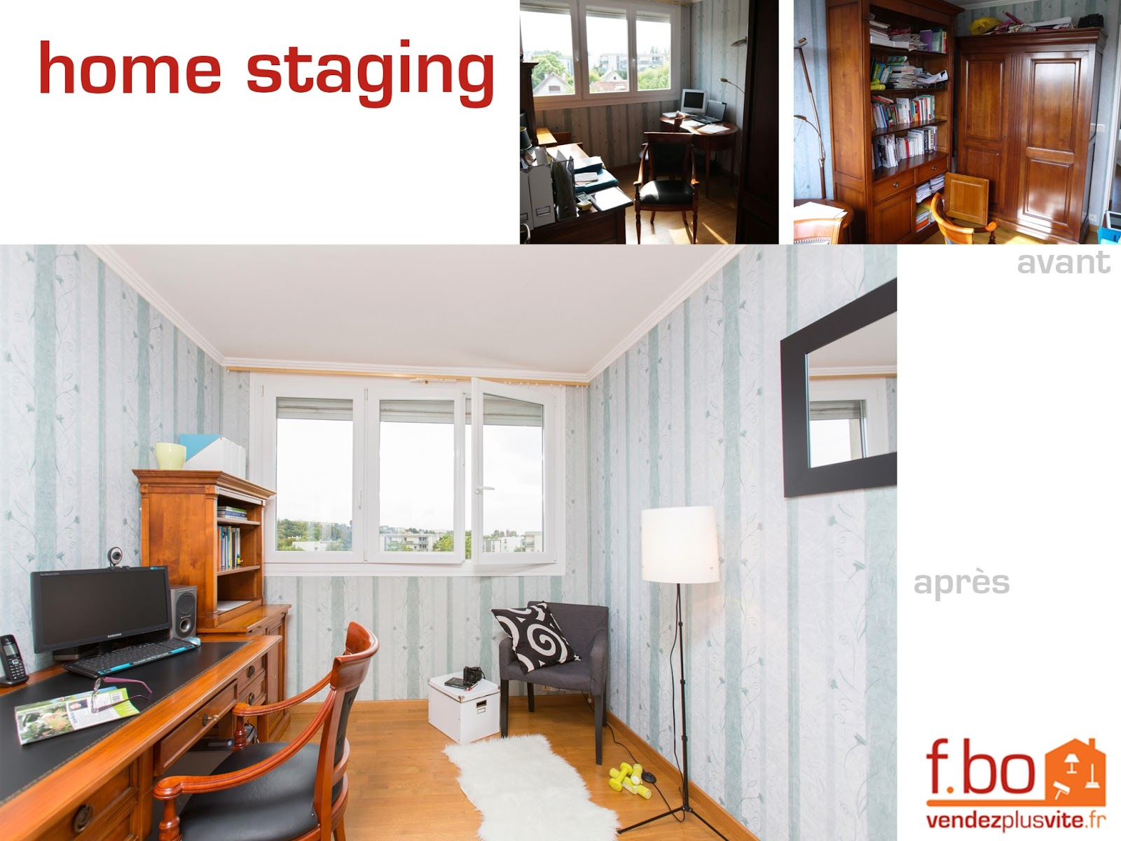 vendez plus vite votre bien des photos de home staging avant apr s. Black Bedroom Furniture Sets. Home Design Ideas