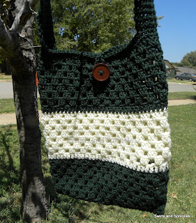 Swirls and Sprinkles: Easy crochet bag, free pattern
