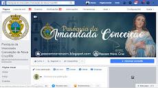 Página da Paróquia da Imaculada Conceição de Nova Cruz e Lagoa d'Anta/RN
