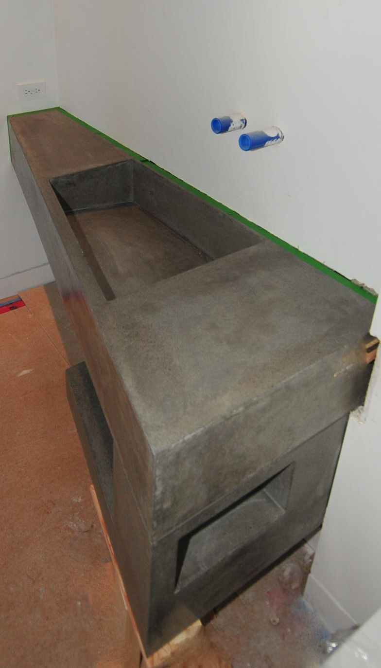 Concrete Trough Sink : MODE CONCRETE: Ultra Modern Concrete Floating Bathroom Vanity - made ...