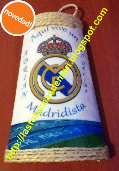 Tejas decoradas y personalizadas - Escudo Real Madrid