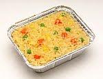 arroz con vegetales y azafrán