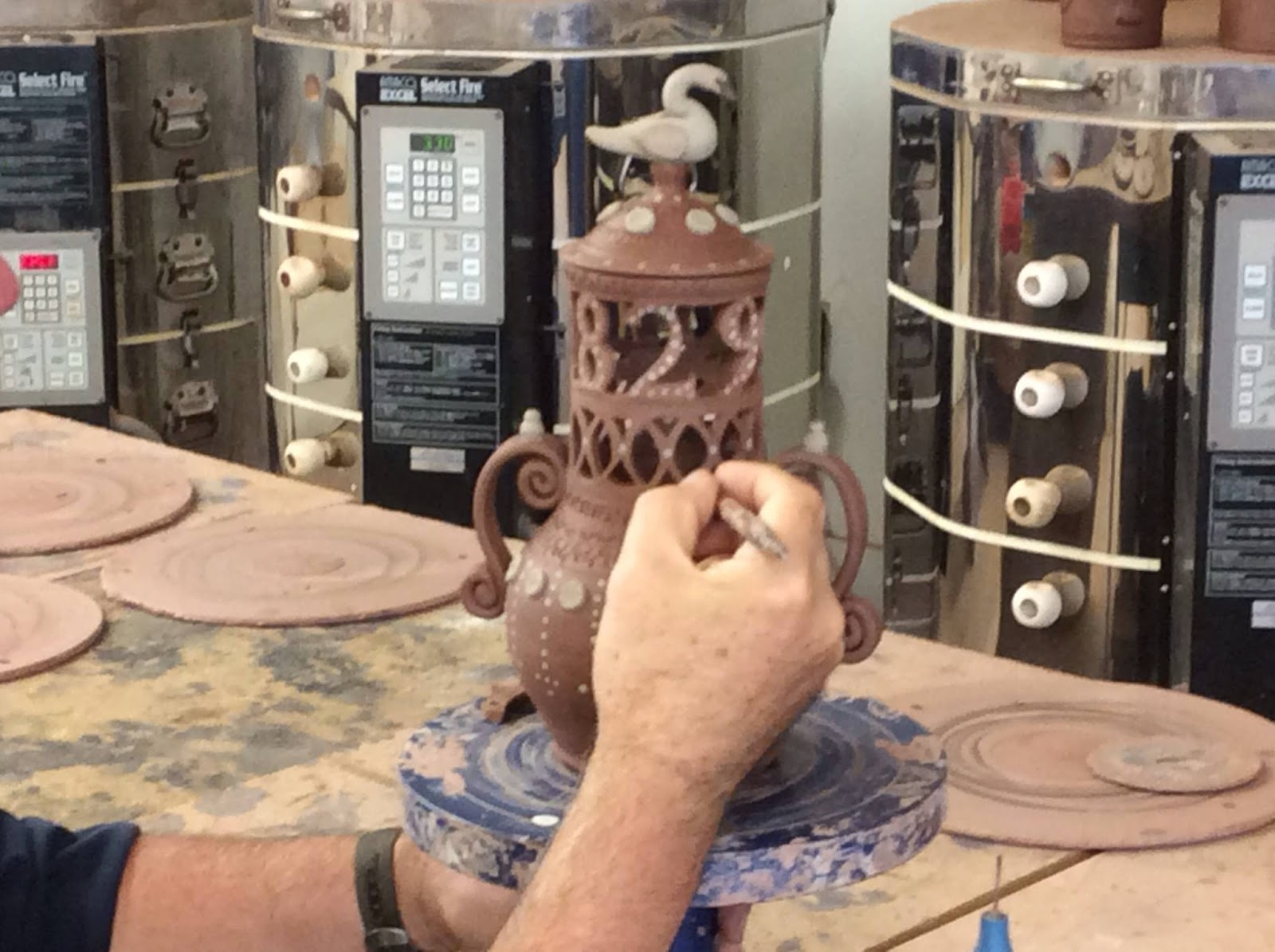 Greg Shooner Making His American Redware