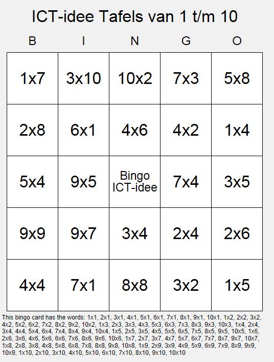 Uitzonderlijk ICT-idee: 76. Maak je eigen (educatieve) bingokaarten. TP37