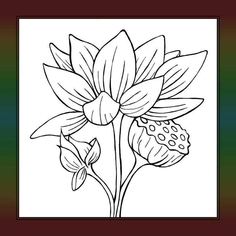 lotus flower coloring pages - photo#30